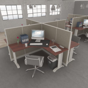 Fabric Office Workstations