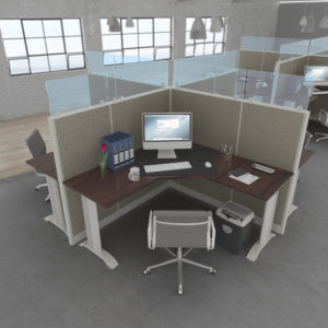 Fabric & Glass Workstations